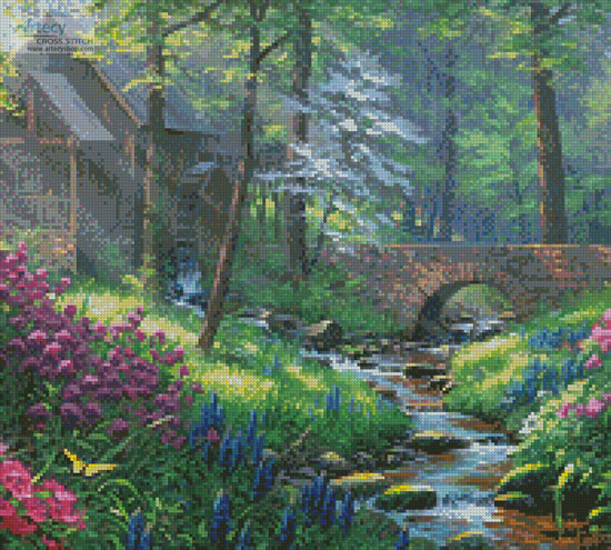 Spring's Renewal (Crop) - Cross Stitch Chart