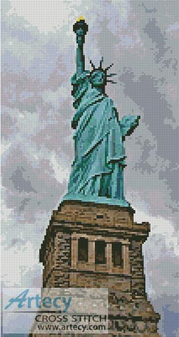 Statue of Liberty - Cross Stitch Chart