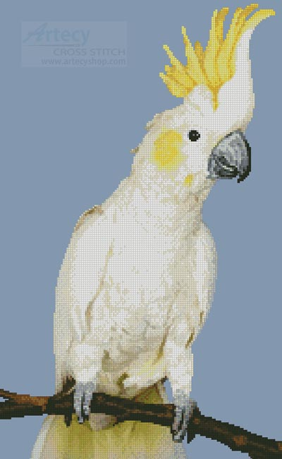 Sulphur Crested Cockatoo - Cross Stitch Chart
