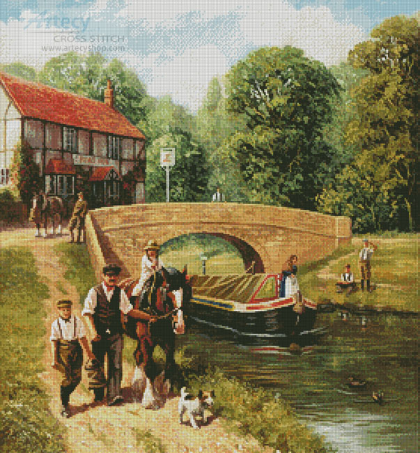 Summer on the Canal - Cross Stitch Chart
