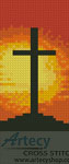 Sunset Cross Bookmark - Cross Stitch Chart