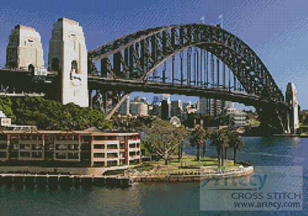 Sydney Harbour Bridge - Cross Stitch Chart