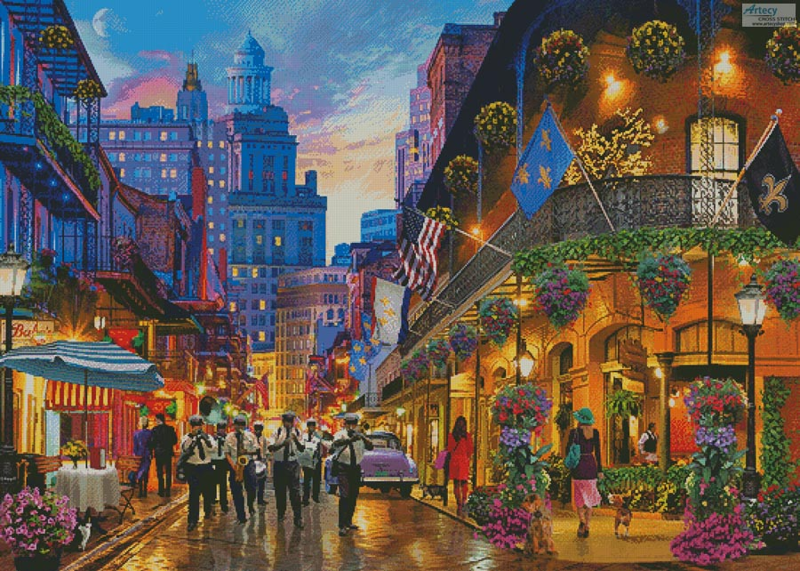 The Big Easy, New Orleans (Large) - Cross Stitch Chart