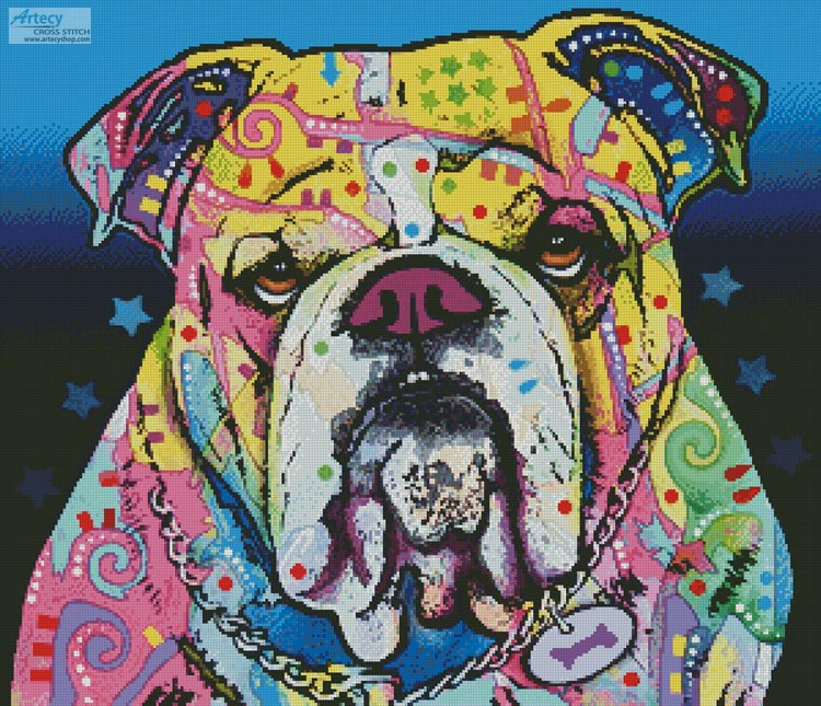 The Bulldog - Cross Stitch Chart
