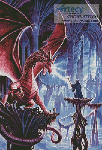 The Dragons Lair - Cross Stitch Chart