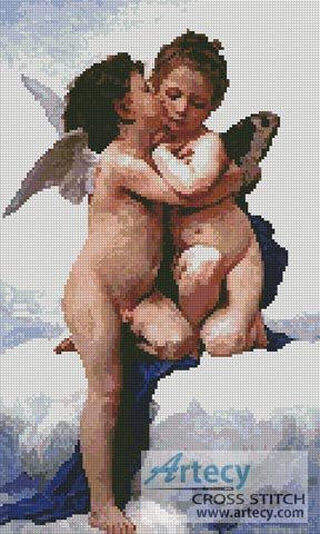 The First Kiss - Cross Stitch Chart