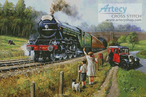 The Flying Scotsman - Cross Stitch Chart