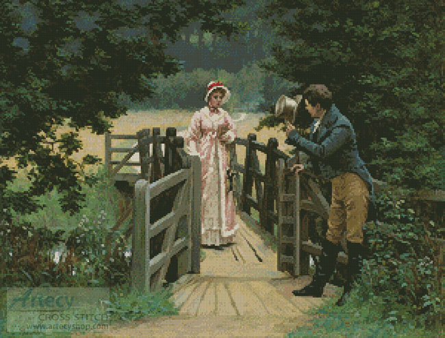 The Gallant Suitor - Cross Stitch Chart