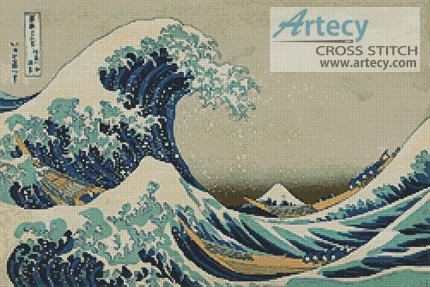 The Great Wave - Cross Stitch Chart
