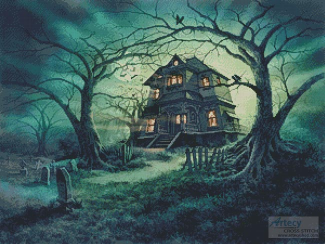 The Haunted House - Cross Stitch Chart