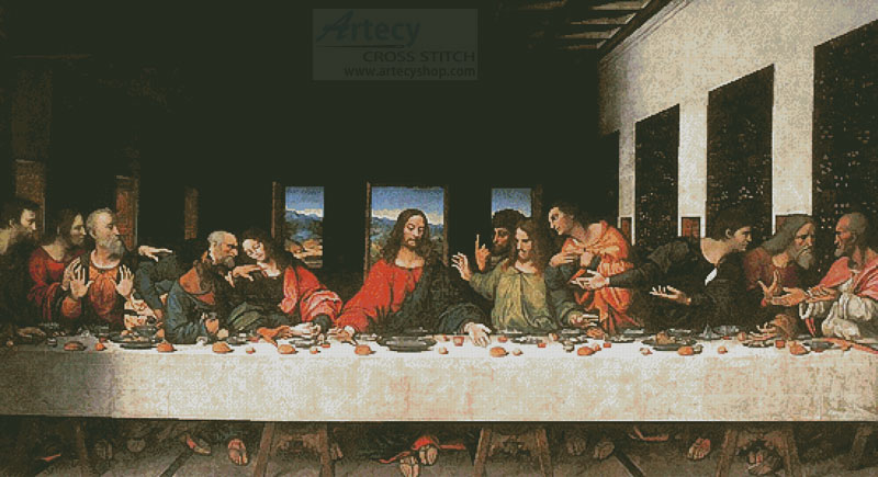 The Last Supper (Large) - Cross Stitch Chart
