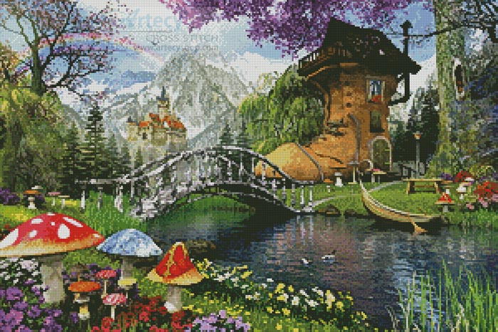 The Old Shoe House - Cross Stitch Chart