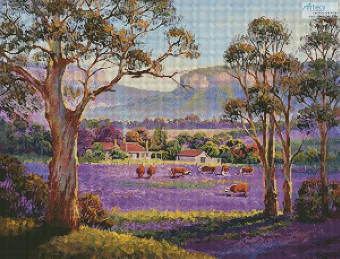 The Purple Paddock - Cross Stitch Chart