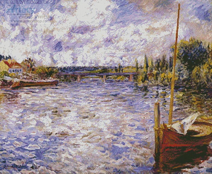 The Seine at Chatou - Cross Stitch Chart