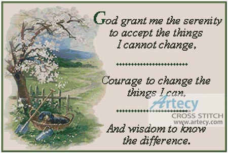 The Serenity Prayer - Cross Stitch Chart