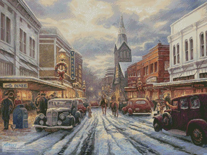 The Warmth of Small Town Living - Cross Stitch Chart