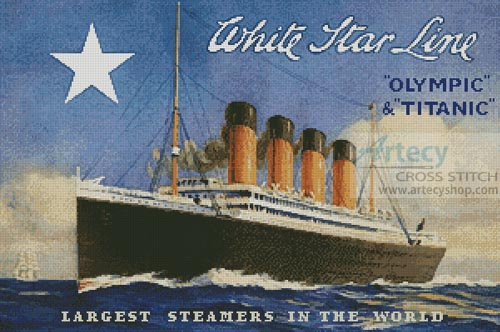 Titanic Advertisement - Cross Stitch Chart