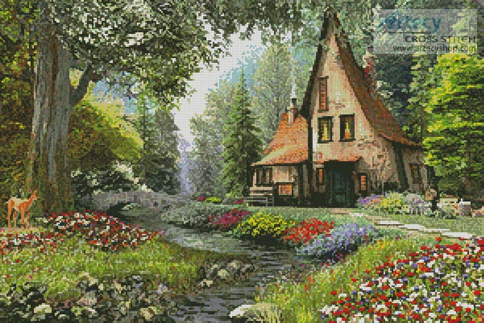 Toadstool Cottage - Cross Stitch Chart