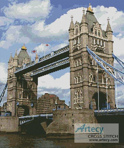 Tower Bridge 2 - Cross Stitch Chart
