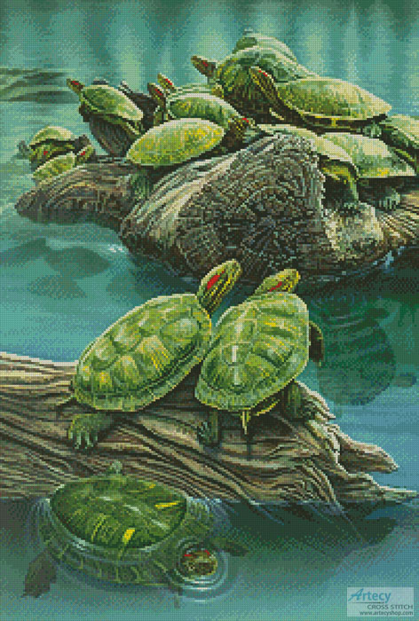 Turtle Pond - Cross Stitch Chart