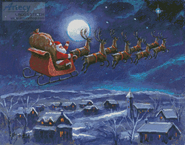 Twas the Night Before Christmas - Cross Stitch Chart