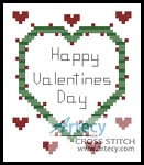 Valentines Card - Cross Stitch Chart