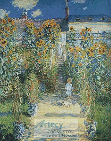 The Artists Garden at Vetheuil - Cross Stitch Chart