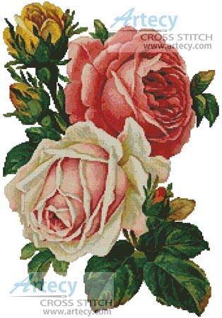 Victorian Roses - Cross Stitch Chart