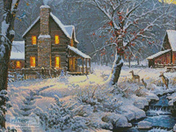 Warm and Cozy (Crop 1) - Cross Stitch Chart