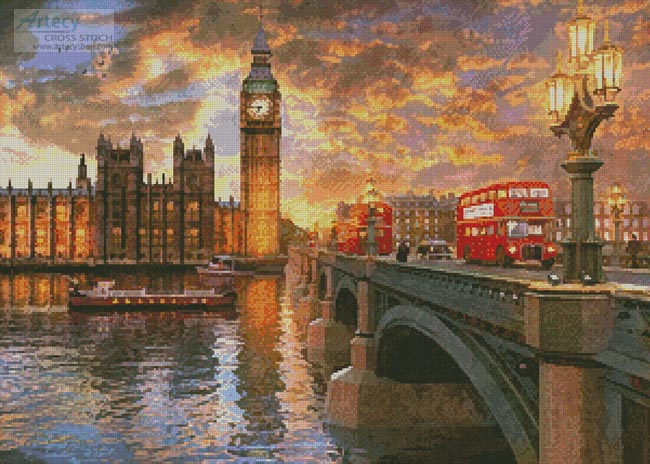 Westminster Sunset - Cross Stitch Chart