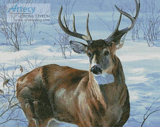 Whitetail Buck - Cross Stitch Chart