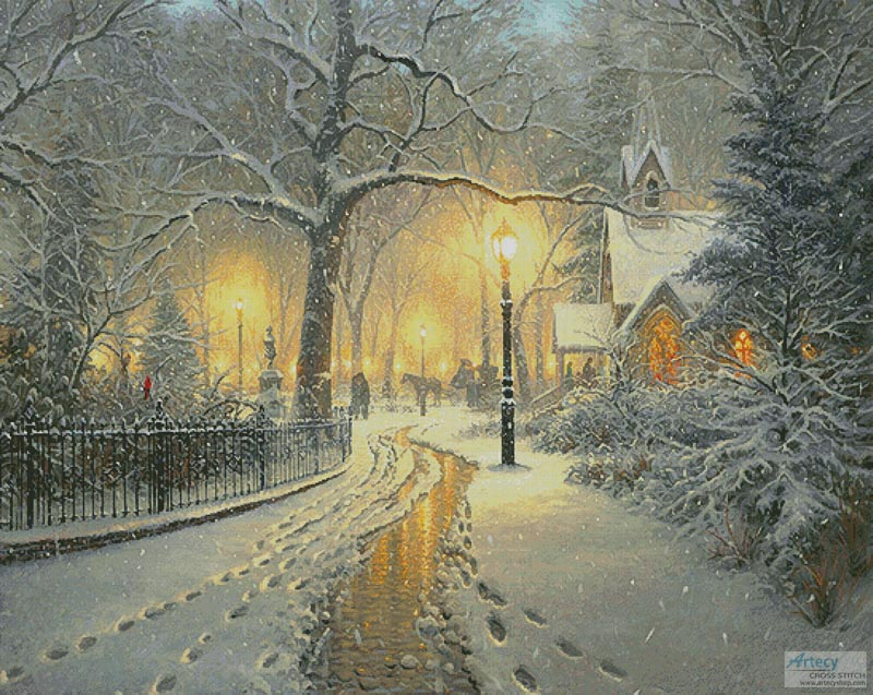 Winter Chapel (Large) - Cross Stitch Chart