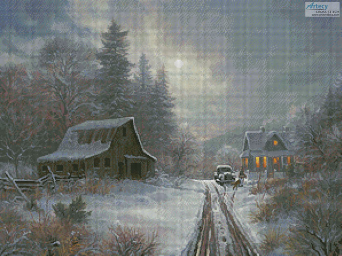 Winter Homeplace - Cross Stitch Chart