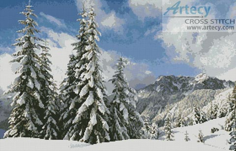 Winter Landscape - Cross Stitch Chart