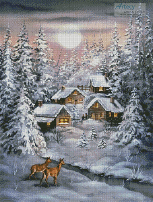 Winter Moonlight - Cross Stitch Chart