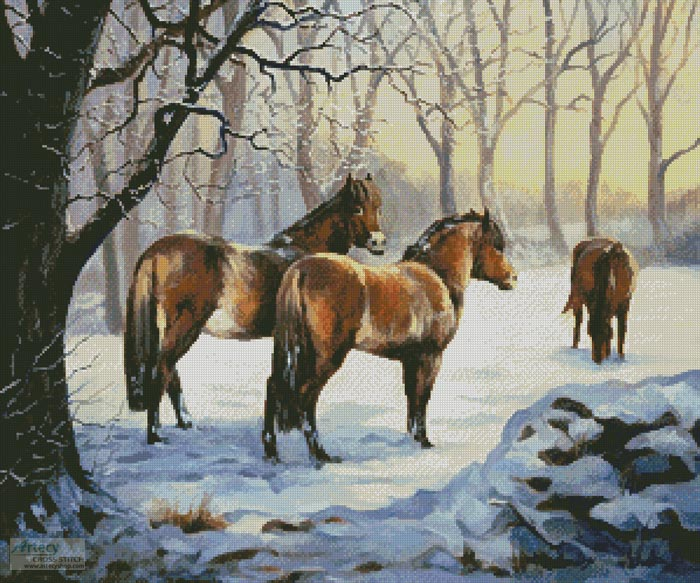 Winter Pasture - Cross Stitch Chart