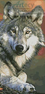 Wolf 2 - Cross Stitch Chart