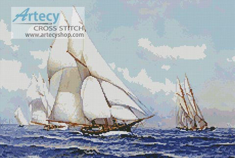 Yacht Race - Cross Stitch Chart