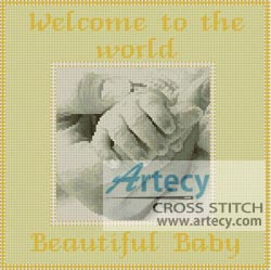 Baby Sampler (Yellow) - Cross Stitch Chart
