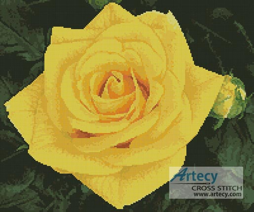 Yellow Rose Photo - Cross Stitch Chart
