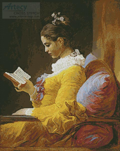 Young Girl Reading - Cross Stitch Chart