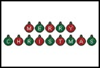 Merry Christmas Baubles - Cross Stitch Chart