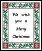 Merry Christmas Border - Cross Stitch Chart