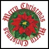 Merry Christmas Poinsettia - Cross Stitch Chart
