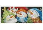 Merry Folks Greeting You - Cross Stitch Chart