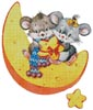 Mice on a Cheese Moon - Cross Stitch Chart