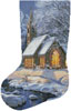 Midnight Clear Stocking (Left) - Cross Stitch Chart