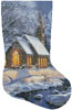 Midnight Clear Stocking (Right) - Cross Stitch Chart