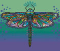 Mini Abstract Dragonfly - Cross Stitch Chart