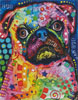 Mini Abstract Pug - Cross Stitch Chart